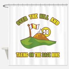 Golfing Humor For 90th Birthday Shower Curtain