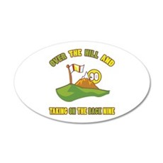 Golfing Humor For 90th Birthday Wall Decal