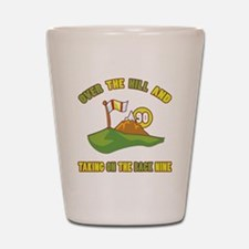 Golfing Humor For 90th Birthday Shot Glass