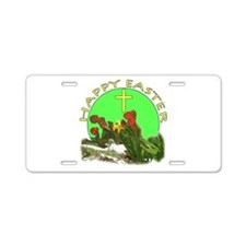 Happy Easter 3 Aluminum License Plate