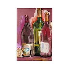Wine Bottles Rectangle Magnet