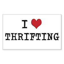 I heart thrifting bumper sticker