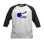 Guitar - Shane - Blue Kids Baseball Jersey