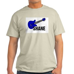 Guitar - Shane - Blue Ash Grey T-Shirt