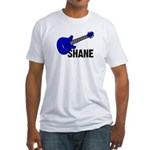 Guitar - Shane - Blue Fitted T-Shirt