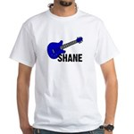 Guitar - Shane - Blue White T-Shirt