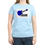 Guitar - Shane - Blue Women's Pink T-Shirt
