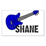Guitar - Shane - Blue Rectangle Sticker