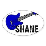 Guitar - Shane - Blue Oval Sticker