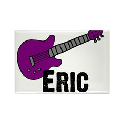 Guitar - Eric - Purple Rectangle Magnet