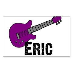 Guitar - Eric - Purple Rectangle Decal