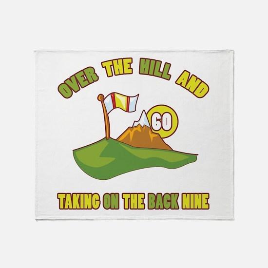 Golfing Humor For 60th Birthday Throw Blanket