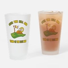 Golfing Humor For 50th Birthday Drinking Glass