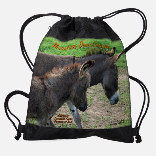 donkeyscal.png Drawstring Bag