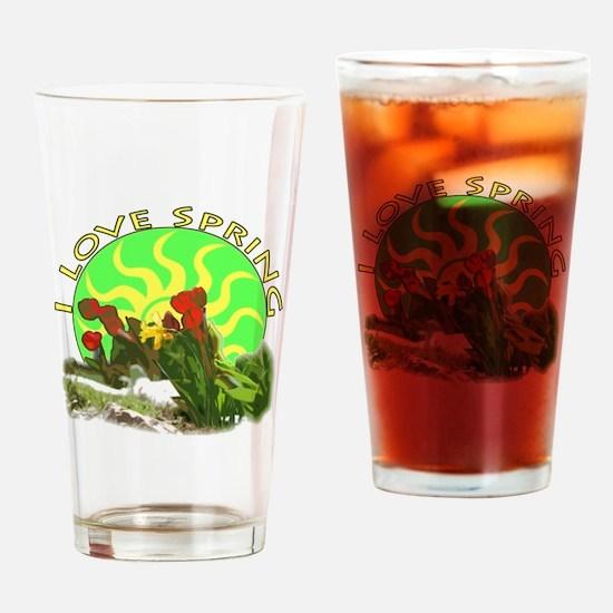 I love spring Drinking Glass