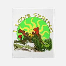 I love spring Throw Blanket