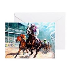 DOWN THE FIRST TURN Greeting Cards (Pk of 10)