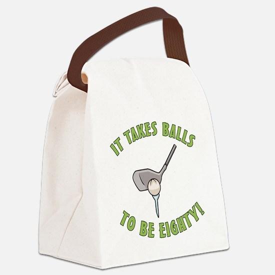 80th Birthday Golfing Gag Canvas Lunch Bag