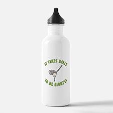 80th Birthday Golfing Gag Water Bottle