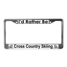Rather Be Cross Country Skiing License Plate Frame