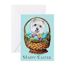 Easter Westie Greeting Card
