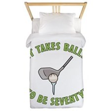 70th Birthday Golfing Gag Twin Duvet