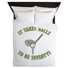 70th Birthday Golfing Gag Queen Duvet