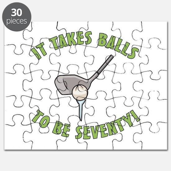 70th Birthday Golfing Gag Puzzle