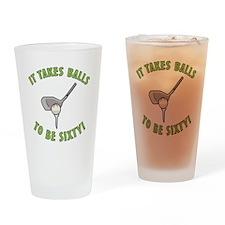 60th Birthday Golfing Gag Drinking Glass