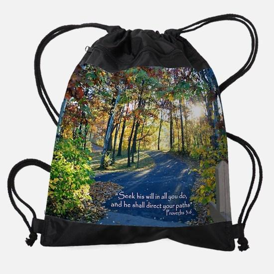 Direct your paths... Drawstring Bag