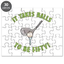 50th Birthday Golfing Gag Puzzle