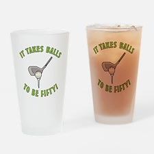 50th Birthday Golfing Gag Drinking Glass