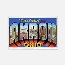 Akron Ohio Greetings Rectangle Magnet