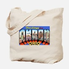 Akron Ohio Greetings Tote Bag