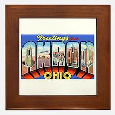 Akron Ohio Greetings Framed Tile