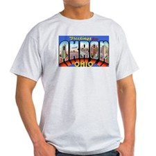 Akron Ohio Greetings (Front) T-Shirt