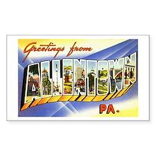 Allentown Pennsylvania Greetings Sticker (Rectangu