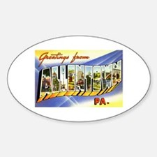 Allentown Pennsylvania Greetings Oval Decal