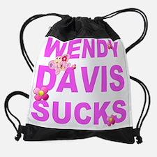 Cute Wendy davis for governor Drawstring Bag