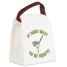 30th Birthday Golfing Gag Canvas Lunch Bag