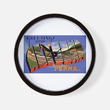 Altoona Pennsylvania Greetings Wall Clock
