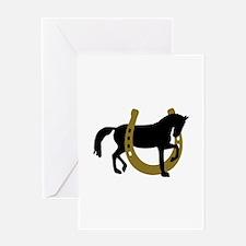 Horse horseshoe Greeting Card