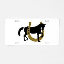 Horse horseshoe Aluminum License Plate