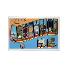 Asheville North Carolina Greetings Rectangle Magne