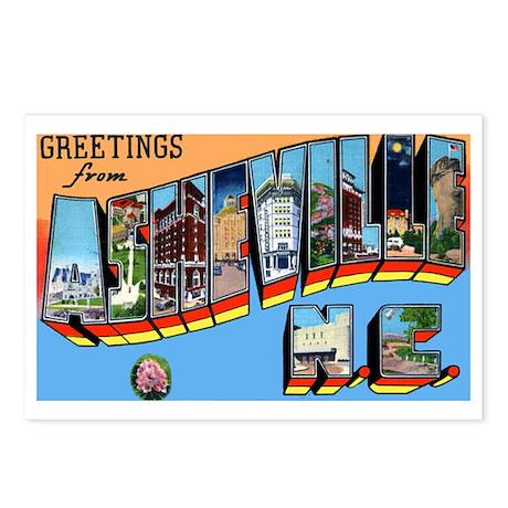 Asheville North Carolina Greetings Postcards (Pack