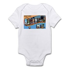 Asheville North Carolina Greetings Infant Bodysuit