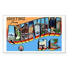 Asheville North Carolina Greetings Decal