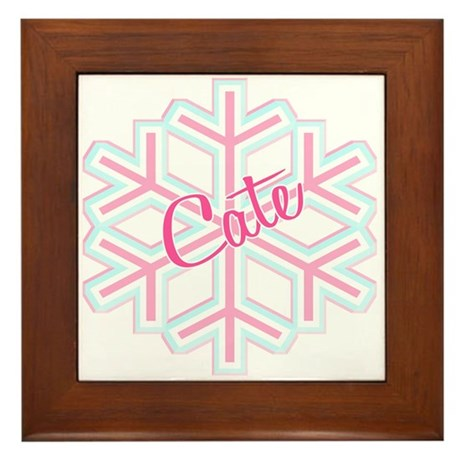 Cate Snowflake Personalized Framed Tile