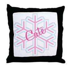 Cate Snowflake Personalized Throw Pillow