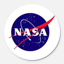 NASA Meatball Logo Round Car Magnet